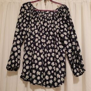Navy floral xxl old navy top